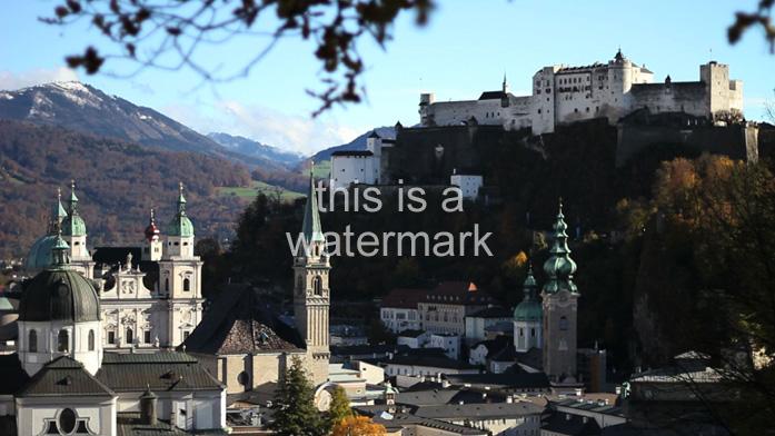Salzburg panorama with a watermark