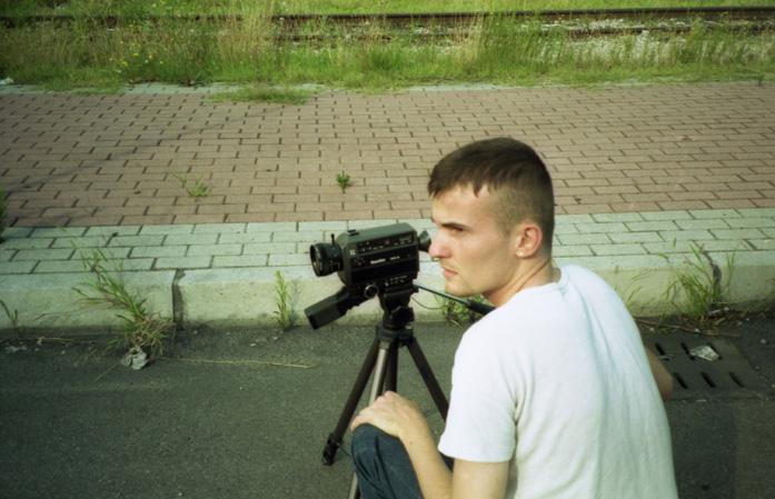 Daniele Carrer in 1998 while filming in super 8