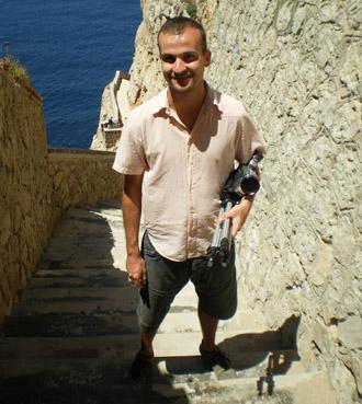 Daniele Carrer in Sardinia in 2008