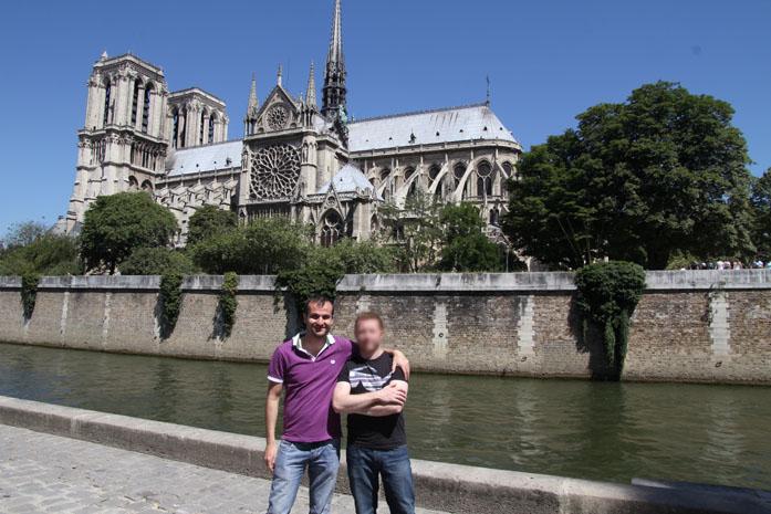 Daniele Carrer with a friend in Paris in 2011