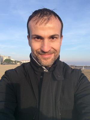 Daniele Carrer on the beach