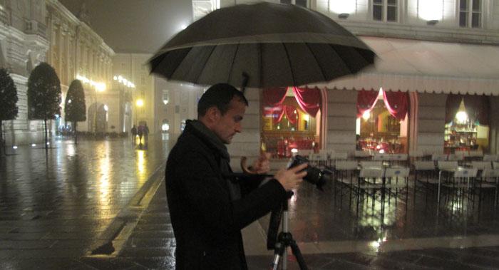 Daniele Carrer in Piazza Unità, Trieste
