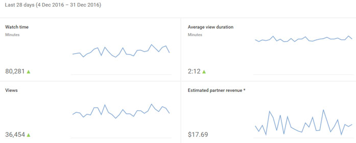 Youtube partnership report