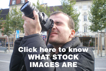 Man shooting stock images in Klagenfurt