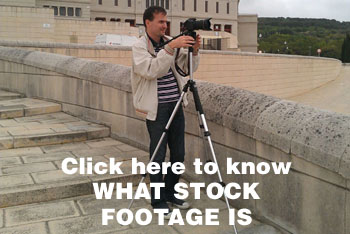 Man shooting stock footage in Barcelona