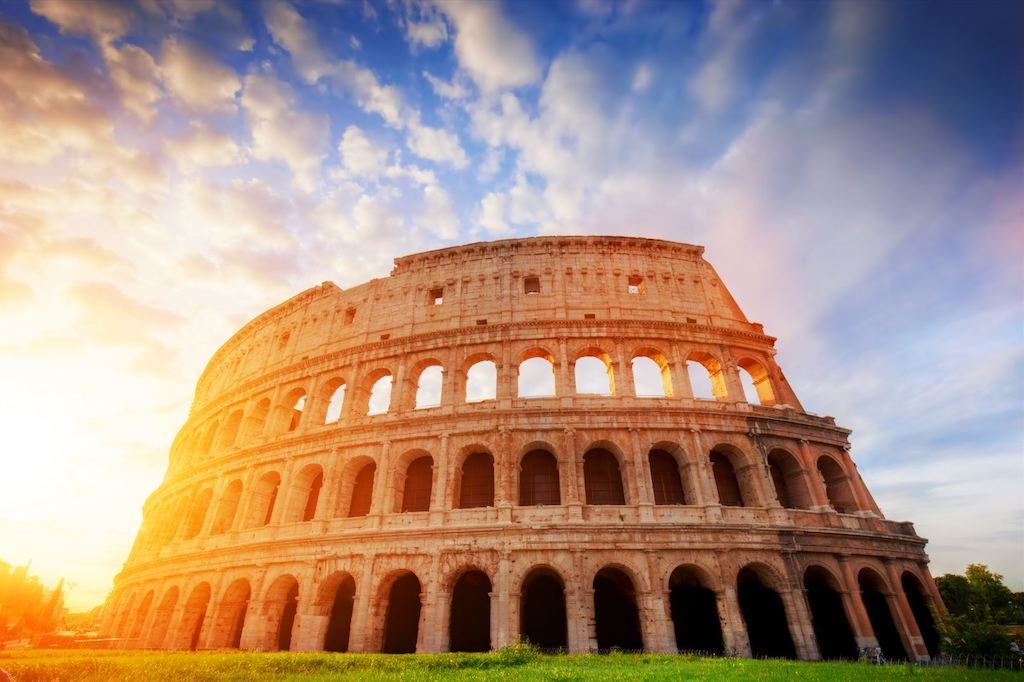 Stock image of the Colosseum in Rome