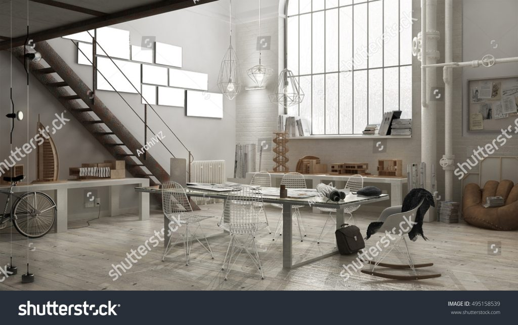 Stock image of a designer studio published on Shutterstock