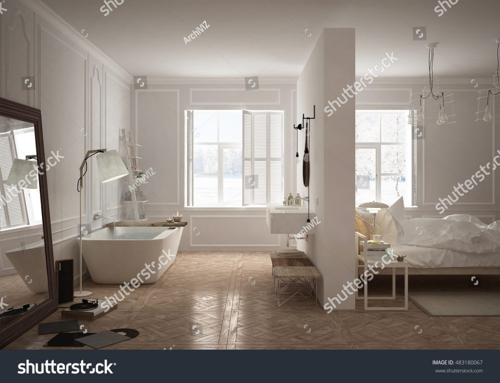 Stock image of a bathroom published on Shutterstock