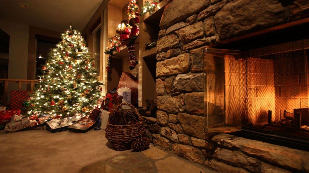 Stock image of a Christmas tree