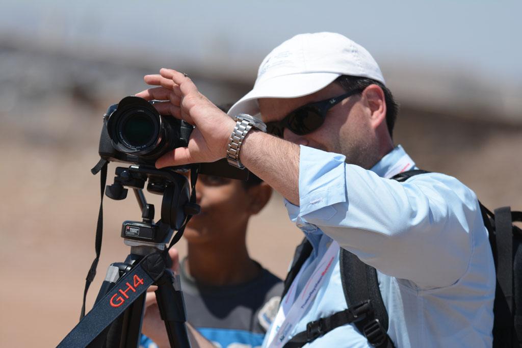 Video maker Ruggero Piccoli while shooting aircrafts