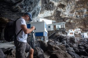 A Professional photographer shooting in Fuerteventura